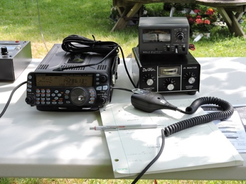 Portable radio setup